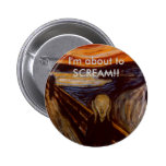 The Scream Pinback Buttons
