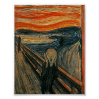 The Scream Poster! The Scream by Edvard Mu Poster