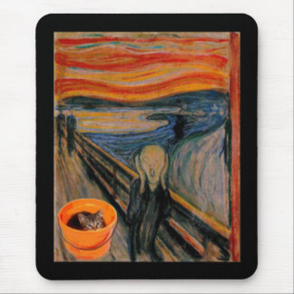 """""""The Scream"""" revisited Mouse Pad"""