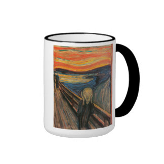 'The Scream' Ringer Coffee Mug