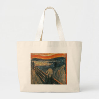 The Scream (Textured) by Edvard Munch Large Tote Bag