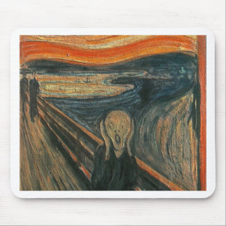 The Scream (Textured) by Edvard Munch Mouse Pad