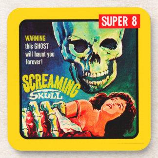 """The Screaming Skull"" 1950s Movie Film Box Coaster"