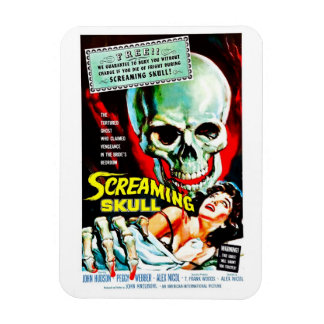 """""""The Screaming Skull"""" Magnet"""