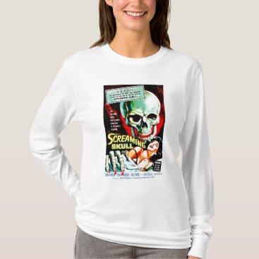 """moviebuffs """"The Screaming Skull"""" Tee Shirt"""