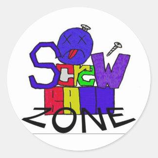 The Screw Ball Zone Sticker