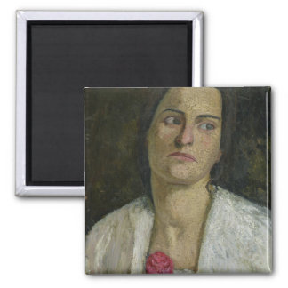 The Sculptress Clara Rilke-Westhoff  1905 2 Inch Square Magnet