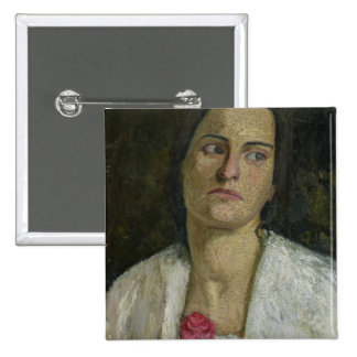 The Sculptress Clara Rilke-Westhoff  1905 Pinback Button