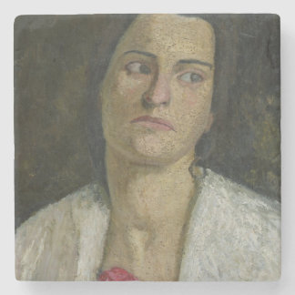 The Sculptress Clara Rilke-Westhoff  1905 Stone Coaster
