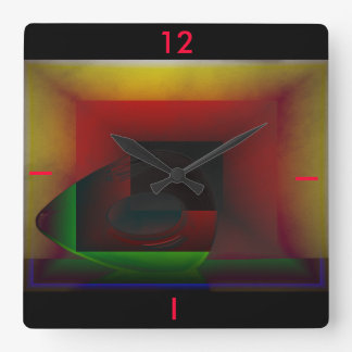 The Sculpture Square Wall Clock