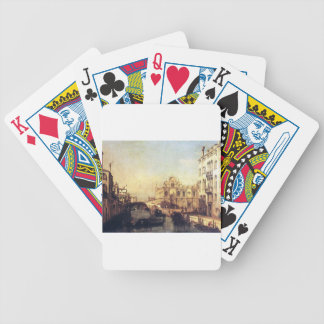 The Scuola of San Marco by Bernardo Bellotto Bicycle Playing Cards
