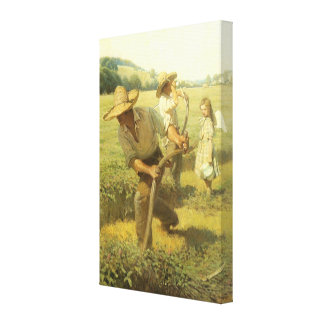 The Scythers Back to the Farm by NC Wyeth Gallery Wrap Canvas