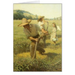 The Scythers (Back to the Farm) by NC Wyeth Greeting Cards