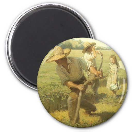 The Scythers (Back to the Farm) by NC Wyeth Fridge Magnet