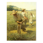 The Scythers (Back to the Farm) by NC Wyeth Postcard