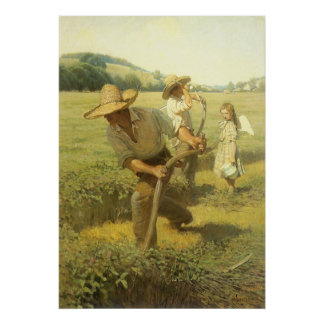 The Scythers (Back to the Farm) by NC Wyeth Posters