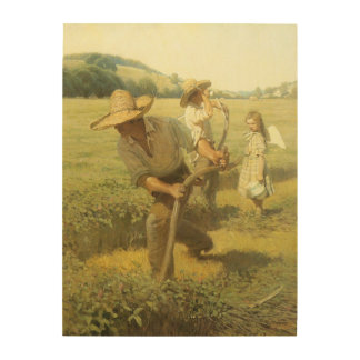 The Scythers Back to the Farm by NC Wyeth Wood Prints