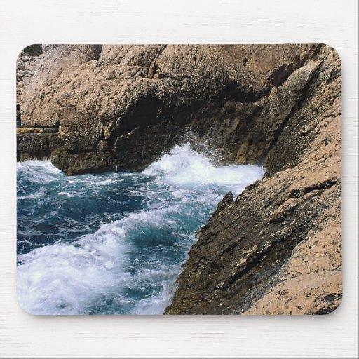 "The sea and rocks, les ""Calanques"", Marseilles, Fr Mouse Pad"