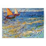The sea at Saintes-Maries by Van Gogh Greeting Card