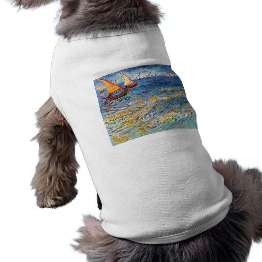 The sea at Saintes-Maries by Van Gogh Doggie Tshirt