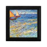 The sea at Saintes-Maries by Van Gogh Gift Boxes
