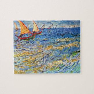 The sea at Saintes-Maries by Van Gogh Puzzles