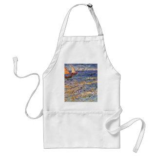 The Sea At Saintes-Maries By Vincent Van Gogh Adult Apron