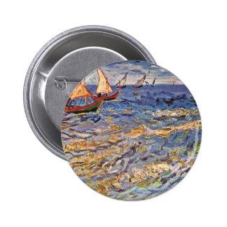 The Sea At Saintes-Maries By Vincent Van Gogh Pins