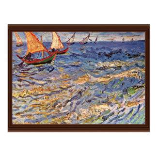 The Sea At Saintes-Maries By Vincent Van Gogh Post Cards
