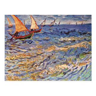The Sea At Saintes-Maries By Vincent Van Gogh Postcard