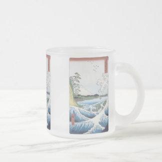 The Sea At Satta, Hiroshige, 1858, Mugs, Steins 10 Oz Frosted Glass Coffee Mug