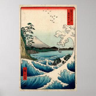The Sea at Satta in Suruga Province. Poster