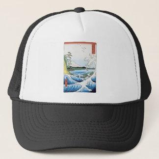 The sea at Satta in Suruga Province Trucker Hat