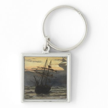The Sea-Beach after a Storm  Time, Dawn Keychain