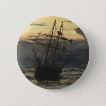 The Sea-Beach after a Storm  Time, Dawn Pinback Button
