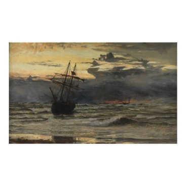 The Sea-Beach after a Storm  Time, Dawn Poster