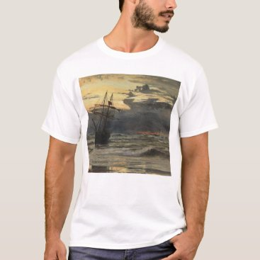 Beach Themed The Sea-Beach after a Storm  Time, Dawn T-Shirt