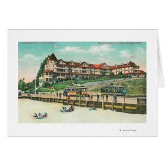 The Sea Beach Hotel from the Beach Cards
