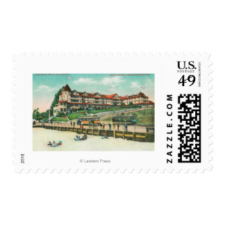 The Sea Beach Hotel from the Beach Postage Stamp