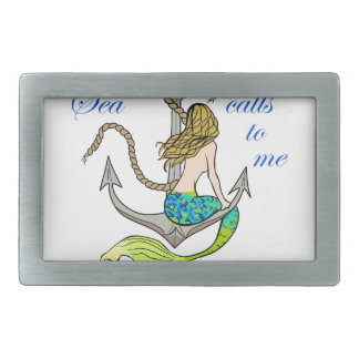 The Sea Calls To Me Belt Buckle