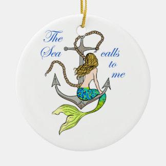 The Sea Calls To Me Ceramic Ornament