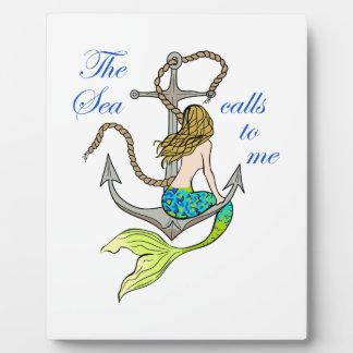 The Sea Calls To Me Plaque