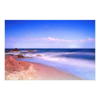 The sea coast. photo print