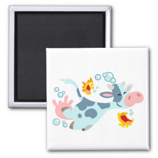 The Sea Cow and Fish Friends magnet