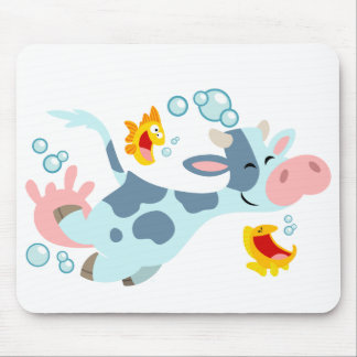 The Sea Cow and Fish Friends mousepad