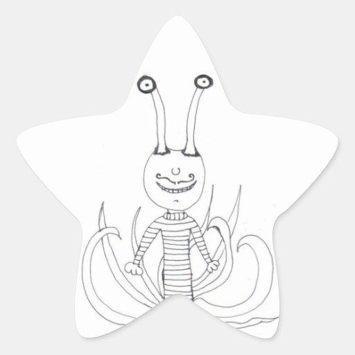 The Sea Creepy Star Sticker