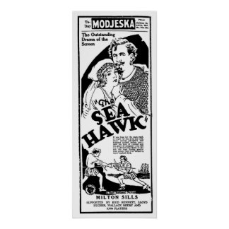 The Sea Hawk 1925 vintage movie ad poster