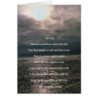 The Sea Inspirational blank card
