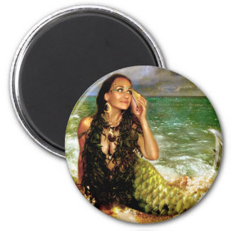 The Sea Is Calling 2 Inch Round Magnet