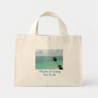 The Sea is Calling Out to Me Mini Tote Bag